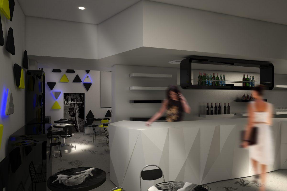 The bar simone micheli architectural hero for Arredo legno design