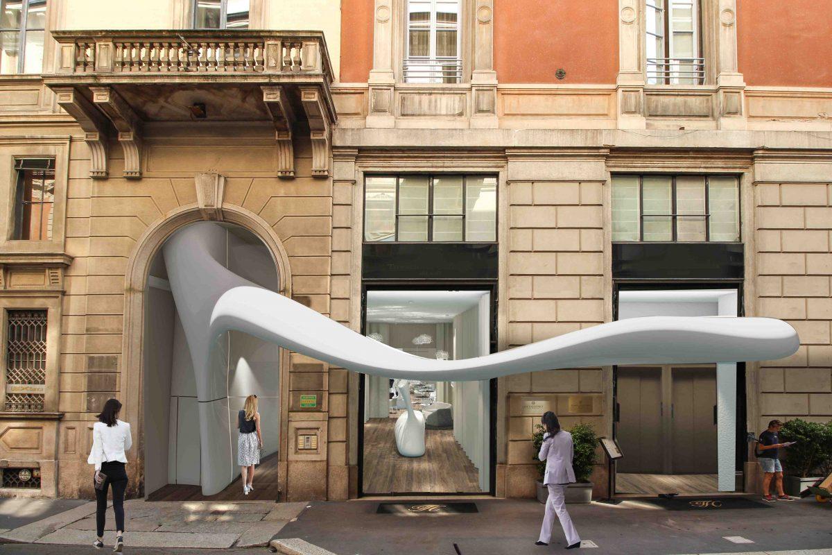 Proposta per ingresso e nuova lobby per Seven Star Simone Micheli
