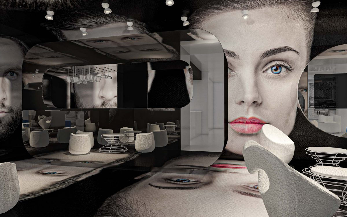 Bar inside Hotel Sogaris Simone Micheli