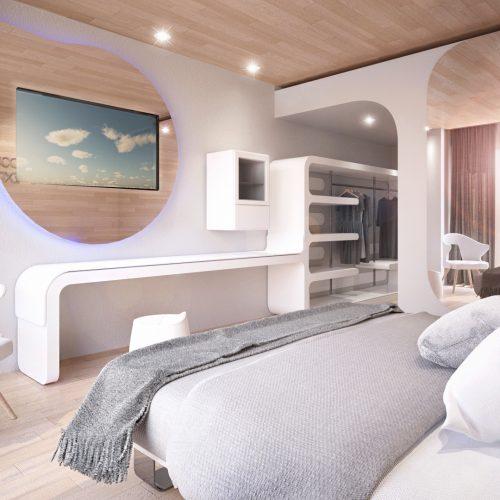 Wood and sea luxury hotel